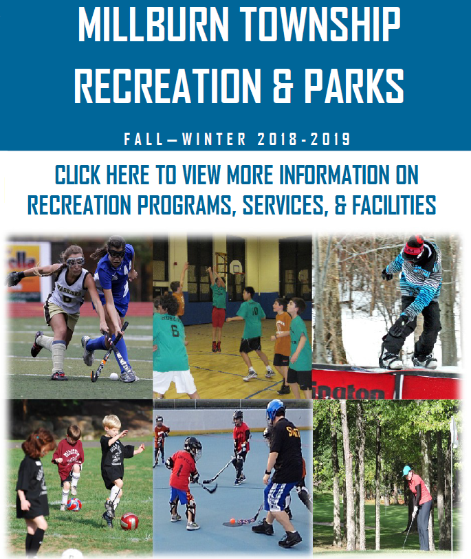 Rec Brochure Image 2018-2019 Fall Winter