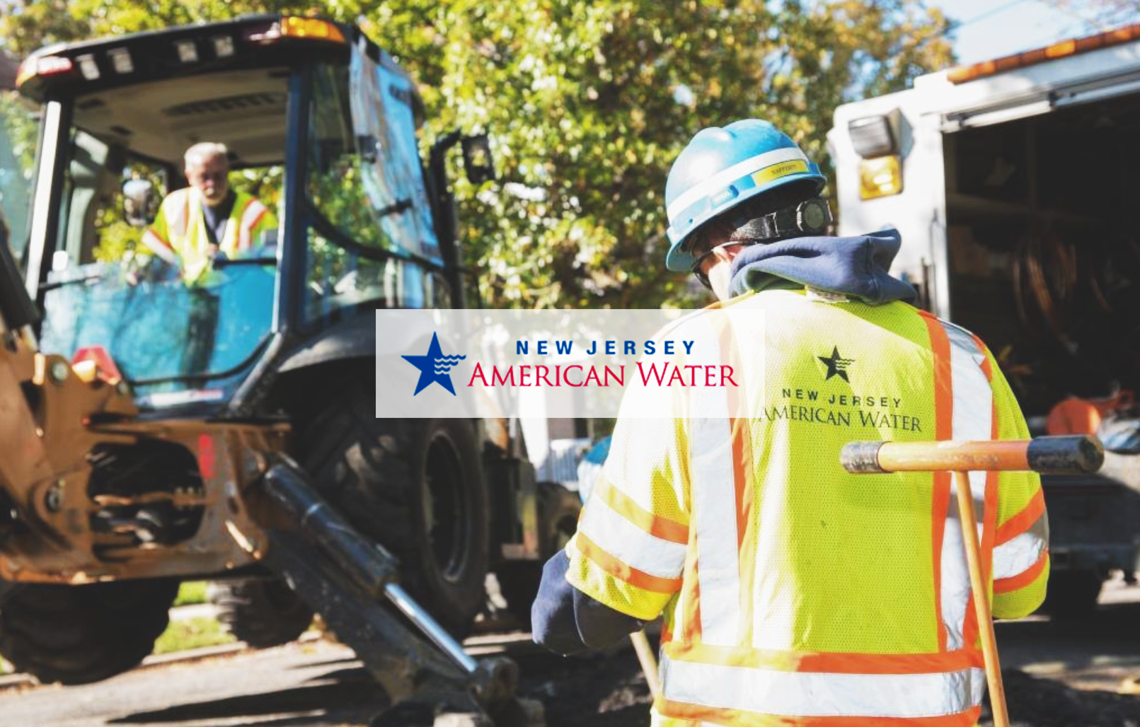 New Jersey American Water Employees working on job site