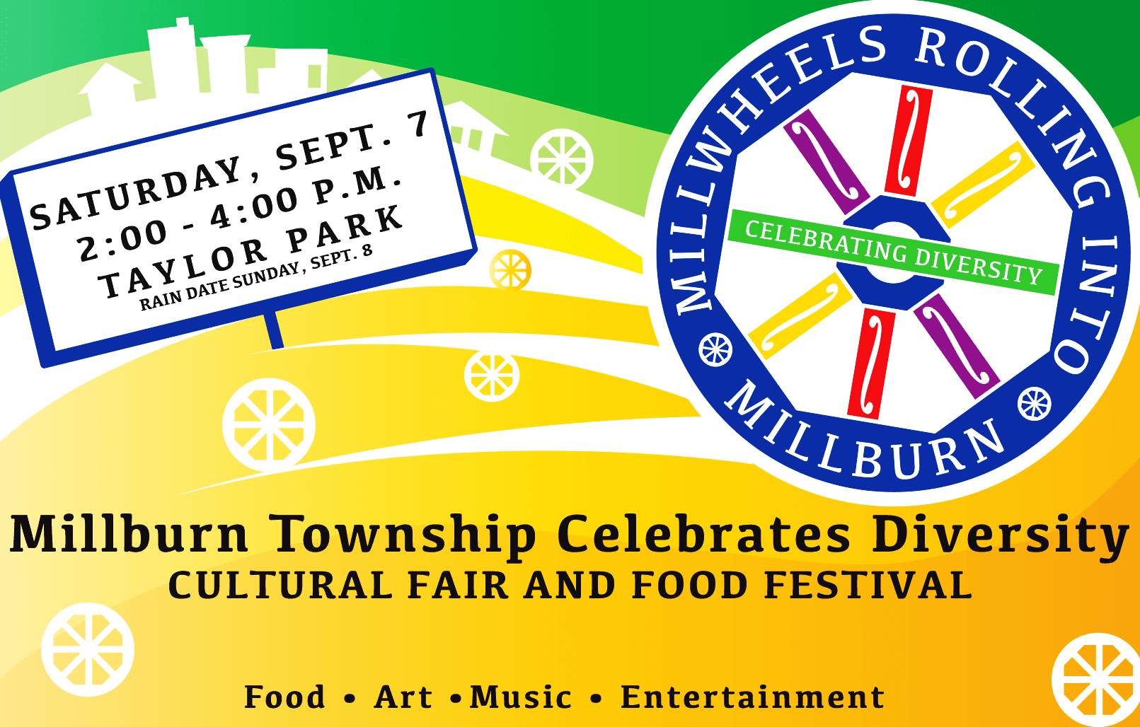 Flyer for Cultural Fair and Food Festival