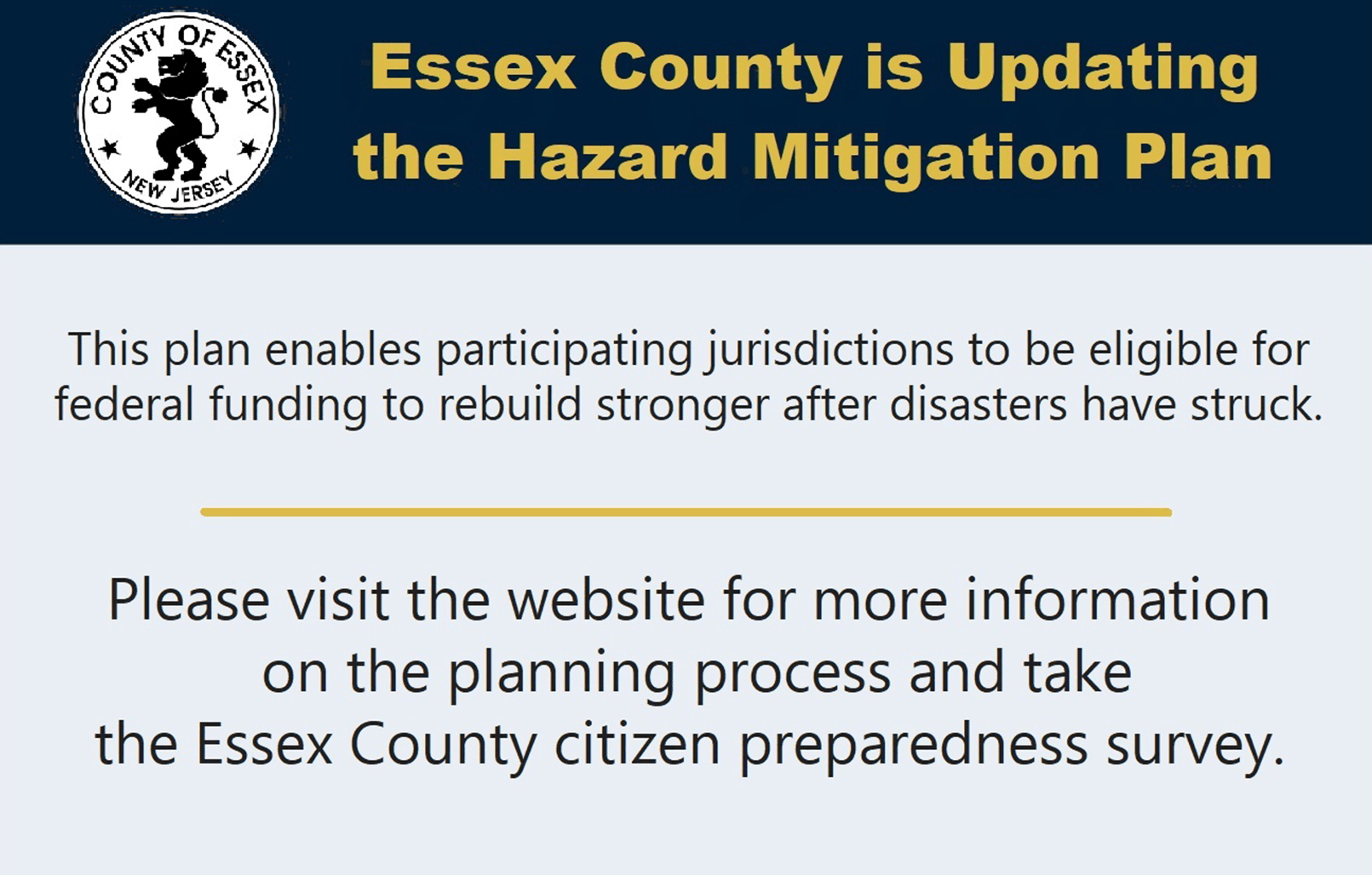 Essex County is updating its Hazard Mitigation Plan