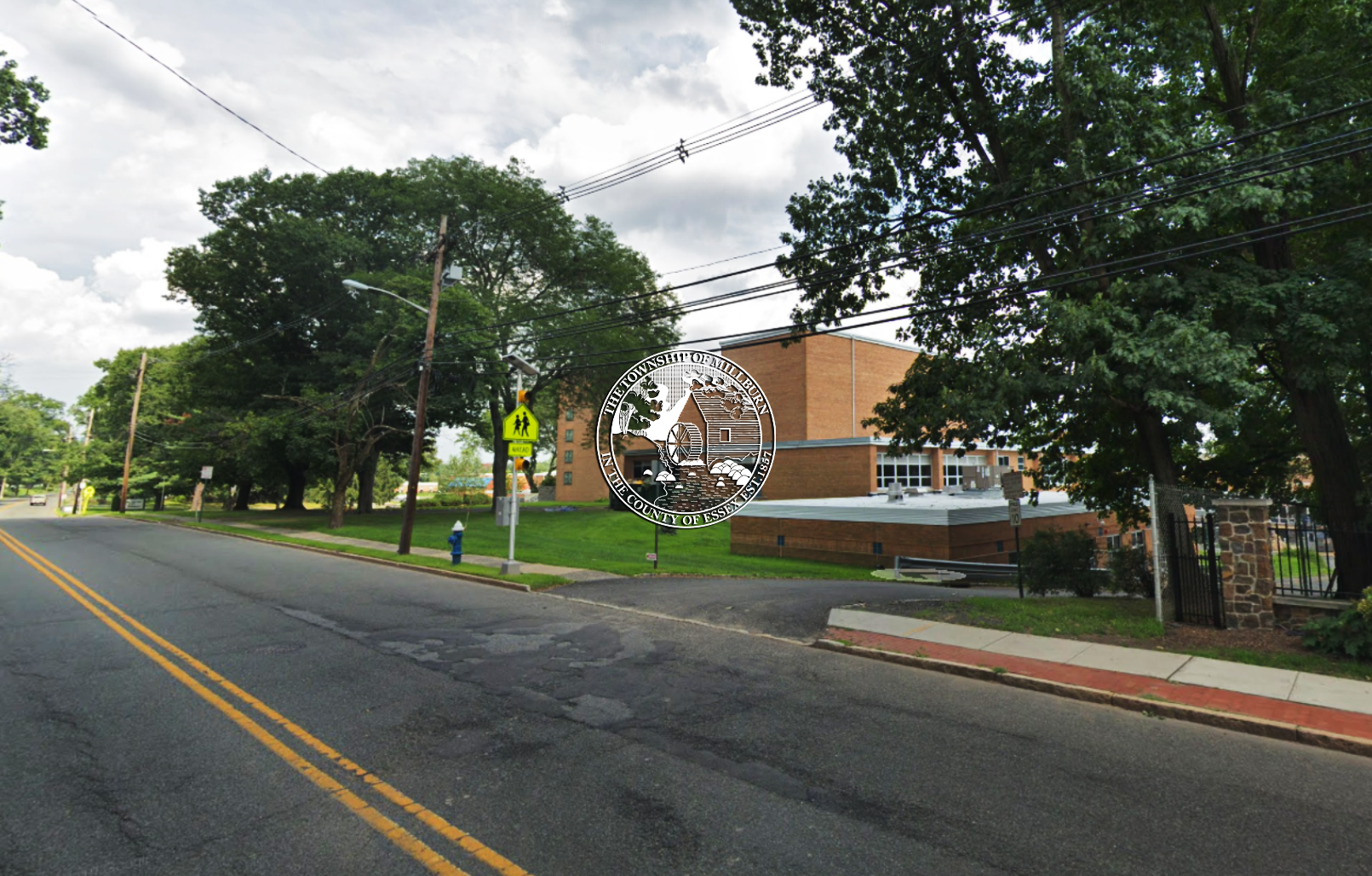 Google maps image of Millburn Avenue at Millburn High School