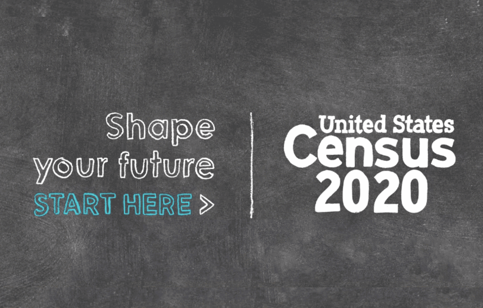 Chalkboard image with 2020 Census written on it