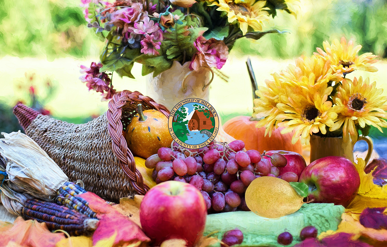 Photograph of Thanksgiving table setting